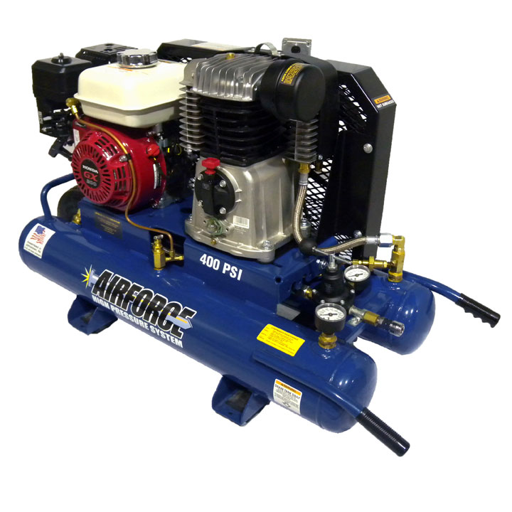 High Pressure Gas Compressor : Portable high pressure gas air compressor single wheel